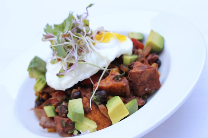 Mexican sprouted bean bowl