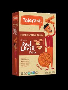 Tolerant lentil pasta