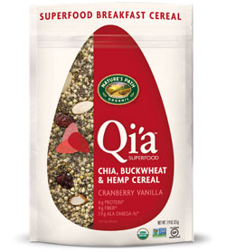natures path qi'a cereal